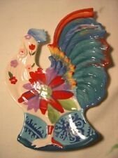 Tracy Porter Poetic Wanderlust Scotch Moss 3D Rooster Candy Dish Plate