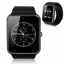 Smart Bluetooth Wrist Health Watch Phone for IOS Android Cell Phone Black