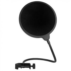 AKORD Microphone Pop Filter Swivel with Double Layer Sound Shield Guard
