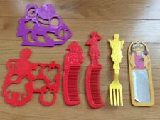 1980's McDonalds Happy Meal Toy Lot Stencils Combs Fork Mirror