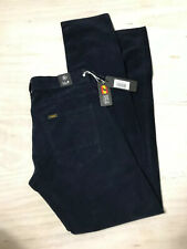 Lois Corduroy Jeans, Cords, Serria, Navy, 30/34, Tapered Leg,NWT, Made In Spain