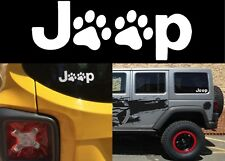 "White 5"" x 3"" Jeep Dog Paw Vinyl Decal Sticker Paw Print Cat New Free Shipping"