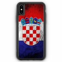 Kroatien Splash Flagge Hrvatska Croatia iPhone XS Max SILIKON Hülle Cover Kro...
