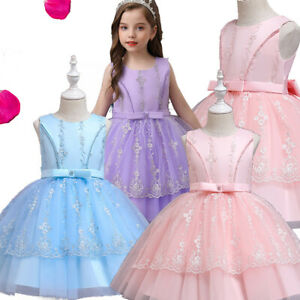 Girls Dresses Princess Wedding Party Bridesmaid Pageant Prom Birthday Ball Gown