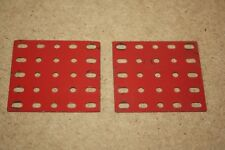 Märklin Baukasten 2x Rechteckplatte  5 x 5 Loch 153/5 oder 11351