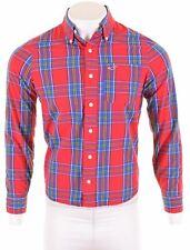 HOLLISTER Mens Shirt Medium Red Check Cotton  IX14