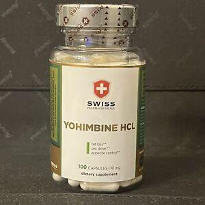 Yohimbine HCL von Swiss Pharmaceuticals 10mg - 100 Caps. Neu Neu Neu