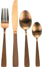 16 Piece Original Matt Copper Stainless Steel Unique Dinner Cutlery Set