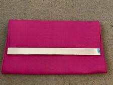 New look Pink Mock Croc Large Clutch/Shoulder Bag