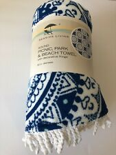 Beach Towel Blue 60' Round. Condition is New with tags. Shipped USPS Priority