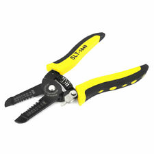 Yellow Black Plastic Handle Cable Stripping Stripper Cutter Tool Awg 10 22