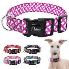 Floral Adjustable Dog Collar for Medium Large Dogs 1.5''Wide Nylon Bull Terrier