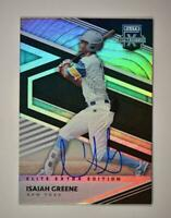 2020 Elite Extra Edition Base Signatures Auto #69 Isaiah Greene - New York Mets