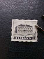"Iceland #273 MLH, 1952 ""Parliament"" Issue, Scott Catalog Value $ 85.00"