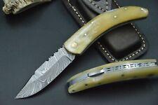 Taschenmesser Damastmesser Jagdmesser Messer Bowie Damast Kamelknochen TOP #6