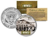 World War II M4 SHERMAN TANK JFK  Kennedy Half Dollar US Coin