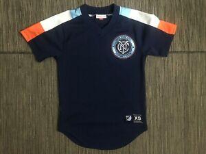 Mitchell Ness Mens XS MLS New York City Football Club NYCFC Mesh Jersey Shirt