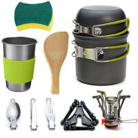13Pcs/Set Portable Camping Cookware Kit Outdoor Picnic Tent Cooking Equipment