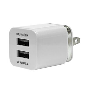 USB Double Wall Fast Charger Adapter Dual 1A 2A 5V For iPhone 8 11 12 Plus X XR