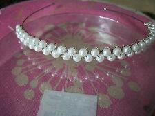 PEARL & SILVER ALICE BAND STYLE HEADDRESS NEW VERY PRETTY