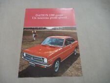 1970's DATSUN 1200 COUPE Catalogue Brochure Prospekt Dépliant French