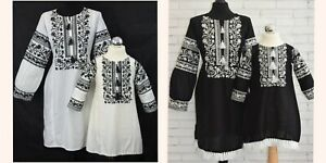 Ladies Kurta Pakistani Indian Mother & Daughter Readymade Clothes Black White