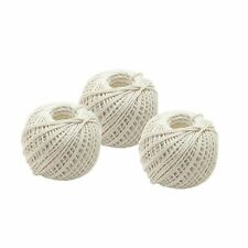 Natural Cotton String Ball Twine Roll 40m - Pack of 3