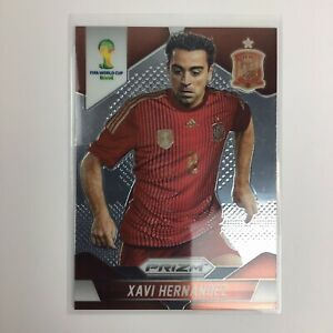2014 Panini Prizm WORLD CUP SOCCER CARD Xavi Hernandez SPAIN FIFA Mint 🔥