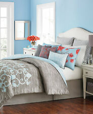 Martha Stewart Collection Camille 10-Pc. FULL Comforter Set Grey 10 F1334