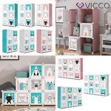 Vicco Kleiderschrank Andy Kinder modular Kinderregal Kleiderstange Steckregal