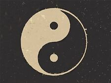 PRINT POSTER PAINTING DRAWING TAOIST PHILOSOPHY YIN YANG BLACK WHITE LFMP0671