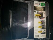 Brand New 5 Star Zipper Binder 3 Inch 3 Ring 900 Sheet Capacity Black And Gray