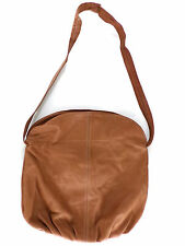 Brown Leather Handbag Large Nevada City California Fold Over bag Cross body