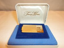 Treasure Masters Gold Tone Money Clip Monogrammed FJW in Original Box