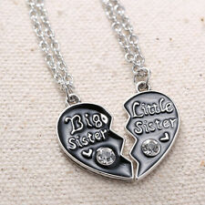1 Pair Chic Love Big Sister Little Sister Pendant Chain Necklaces For Women abus