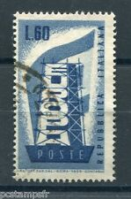 ITALIE ITALIA 1956, timbre 732, EUROPA, oblitéré, ITALY, VF used STAMP