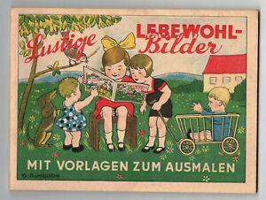 Reklame Malbuch Lebewohl gegen Hühneraugen Dresden 1930er ! (H8