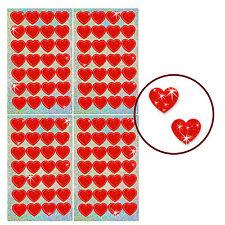 Oblique-Unique® - 112 x Glitzer Herzen Rot - Regenbogen Sticker für Kinder