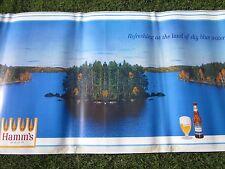 Vintage Hamm's Beer Cardboard Sign Banner 36 Feet long 4 Feet High Large