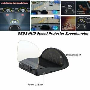 Folding Car OBD2 HUD Mirror Head Up Display Speed Projector RPM Temperature
