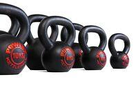 POWERT Cast Iron Kettlebell Weight Lifting Strength Training LB & KG