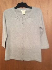 Peck & Peck Womens Gray Pullover Sweater Cashmere  70% Wool 30% S