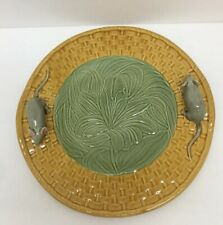 Bordallo PInheiro Earthenware Cheese Plater Plate Raised Mice Made In Portugal