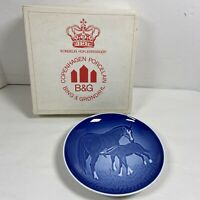 "B&G BING & GRONDAHL 1972 Mother's Day Plate ""Mare and Foal"" Signed"