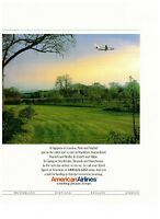 1993 American Airlines Europe Field Color Photo Vintage Print Advertisement