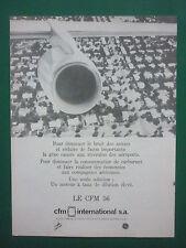 9/1978 PUB CFM SNECMA GENERAL ELECTRIC MOTEURS AVIATION CFM56 ENGINES FRENCH AD