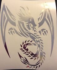 CHROME Tribal Dragon Laptop Car Sticker Decal Personalized Vinyl Art 23-51