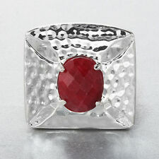 3.15 CT Rough Ruby Cross Ring ~ Size 9