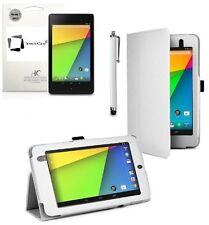 """Carcasas, cubiertas y fundas blanco de piel sintética para tablets e eBooks 7,7"""""""