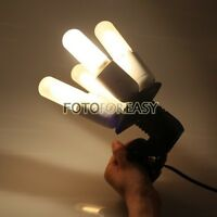 4 in1 Photo Video Studio E27 Light Lamp Bulb Base Socket Splitter Adapter Holder